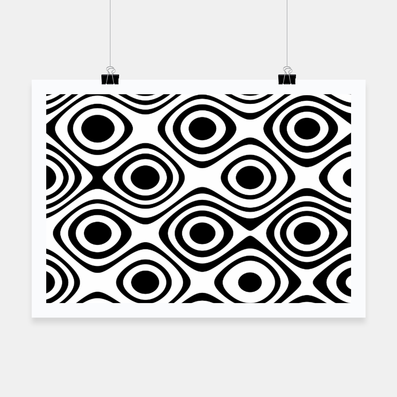 Image of Asymmetry collection: abstract black and white circles Poster - Live Heroes