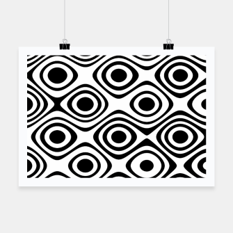 Asymmetry collection: abstract black and white circles Poster miniature