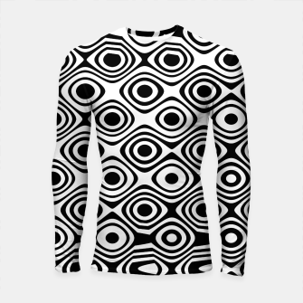 Asymmetry collection: abstract black and white circles Longsleeve rashguard  miniature