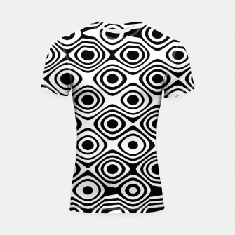 Miniaturka Asymmetry collection: abstract black and white circles Shortsleeve rashguard, Live Heroes