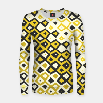 Asymmetry collection: retro shapes and colors Women sweater miniature