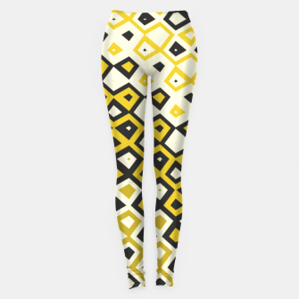 Asymmetry collection: retro shapes and colors Leggings miniature