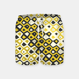 Asymmetry collection: retro shapes and colors Swim Shorts miniature
