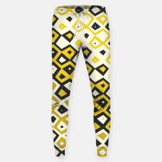 Asymmetry collection: retro shapes and colors Sweatpants miniature