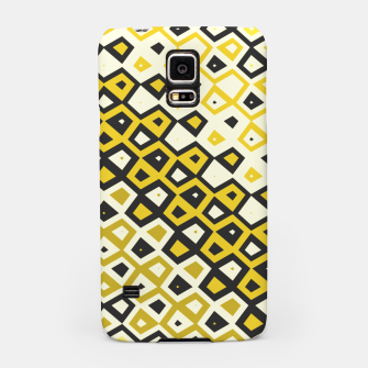 Asymmetry collection: retro shapes and colors Samsung Case miniature