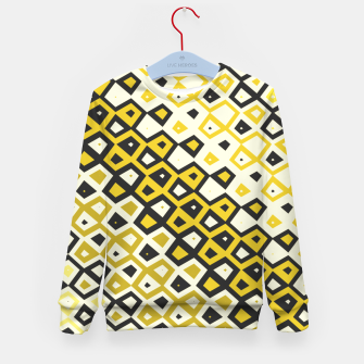 Asymmetry collection: retro shapes and colors Kid's sweater miniature