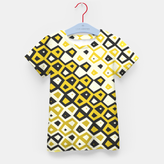 Asymmetry collection: retro shapes and colors Kid's t-shirt miniature