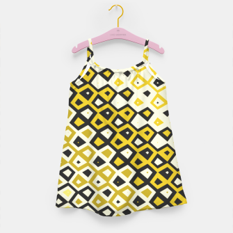 Asymmetry collection: retro shapes and colors Girl's dress miniature