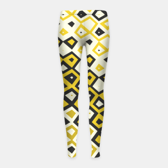 Asymmetry collection: retro shapes and colors Girl's leggings miniature