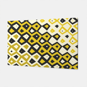 Asymmetry collection: retro shapes and colors Canvas miniature