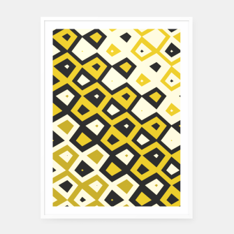 Asymmetry collection: retro shapes and colors Framed poster miniature