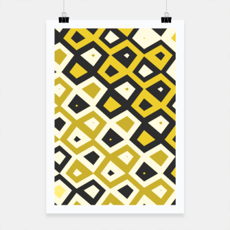 Asymmetry collection: retro shapes and colors Poster miniature
