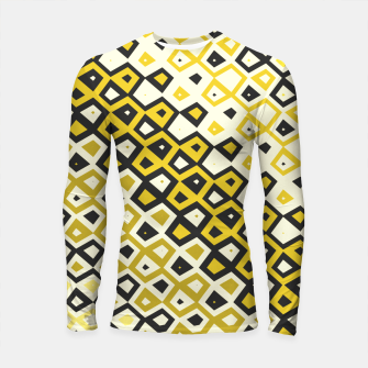 Asymmetry collection: retro shapes and colors Longsleeve rashguard  miniature