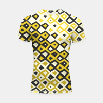 Asymmetry collection: retro shapes and colors Shortsleeve rashguard miniature