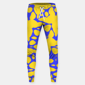 Asymmetry collection: abstract flowers in the water Sweatpants miniature