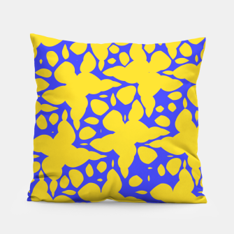 Asymmetry collection: abstract flowers in the water Pillow miniature