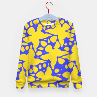Asymmetry collection: abstract flowers in the water Kid's sweater miniature