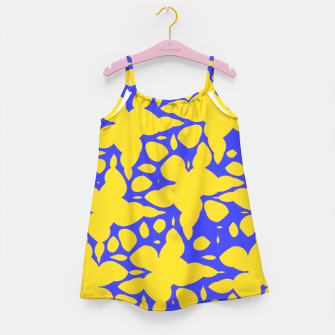 Asymmetry collection: abstract flowers in the water Girl's dress miniature