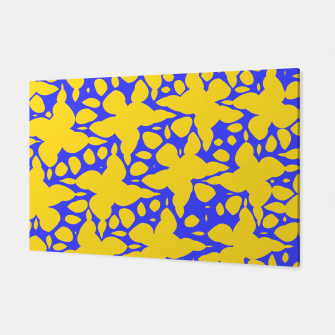 Asymmetry collection: abstract flowers in the water Canvas miniature