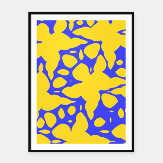 Asymmetry collection: abstract flowers in the water Framed poster miniature