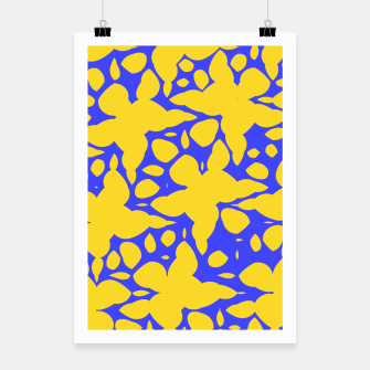 Asymmetry collection: abstract flowers in the water Poster miniature