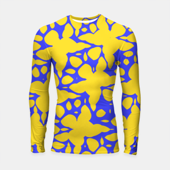 Asymmetry collection: abstract flowers in the water Longsleeve rashguard  miniature