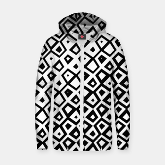 Miniature de image de Asymmetry collection: black and white geometry Zip up hoodie, Live Heroes