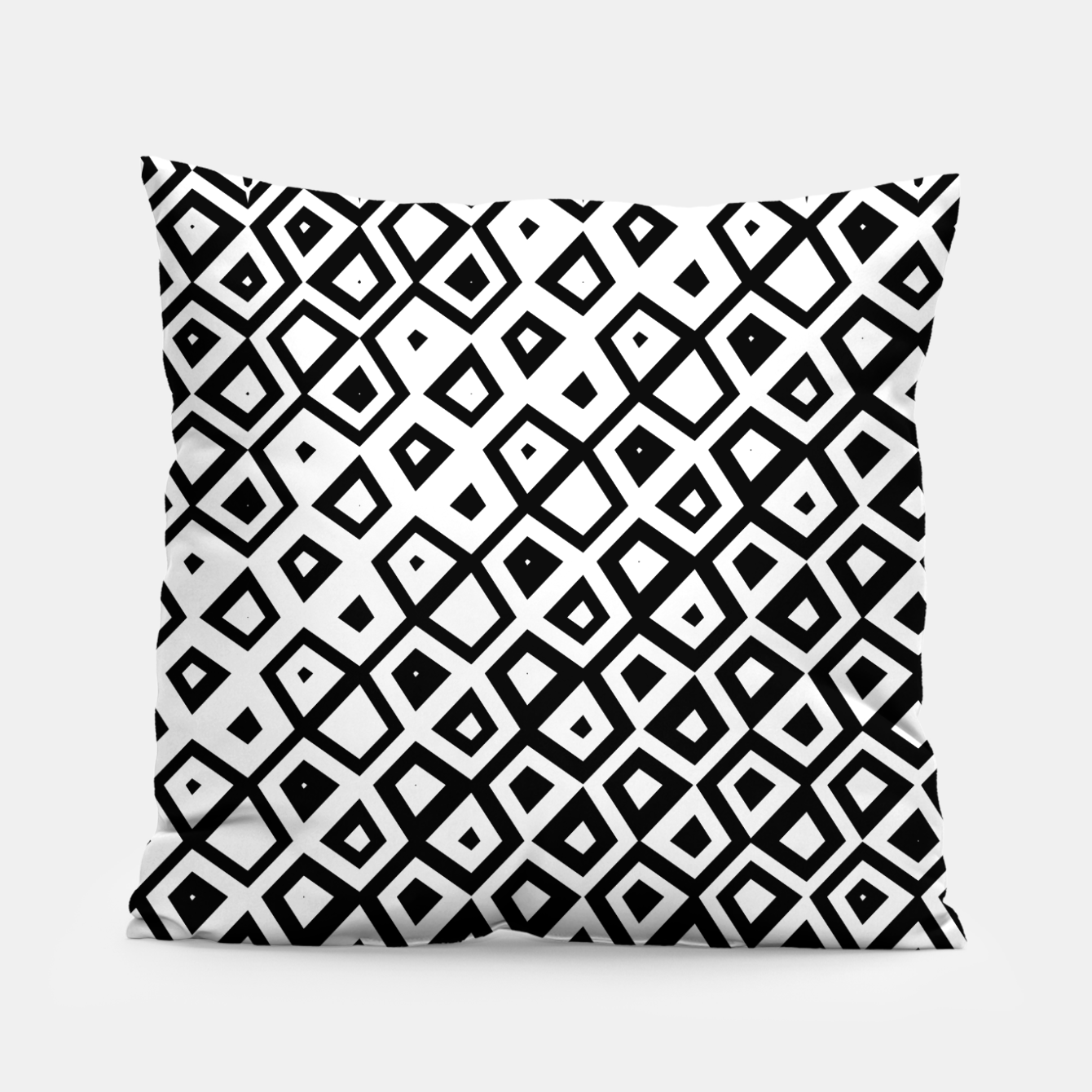 Image of Asymmetry collection: black and white geometry Pillow - Live Heroes
