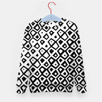 Miniature de image de Asymmetry collection: black and white geometry Kid's sweater, Live Heroes