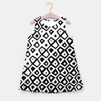 Miniature de image de Asymmetry collection: black and white geometry Girl's summer dress, Live Heroes