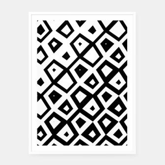 Miniature de image de Asymmetry collection: black and white geometry Framed poster, Live Heroes
