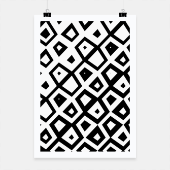 Miniature de image de Asymmetry collection: black and white geometry Poster, Live Heroes
