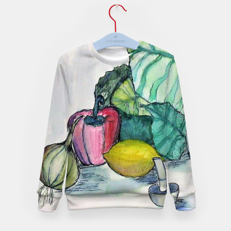 Miniatur vegetables watercolor Bluza dziecięca, Live Heroes