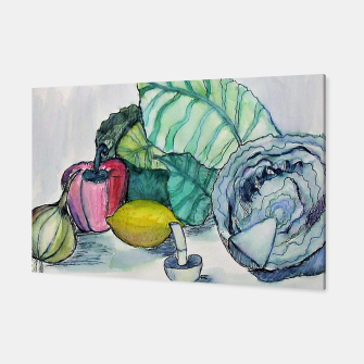 Miniatur vegetables watercolor Canvas, Live Heroes