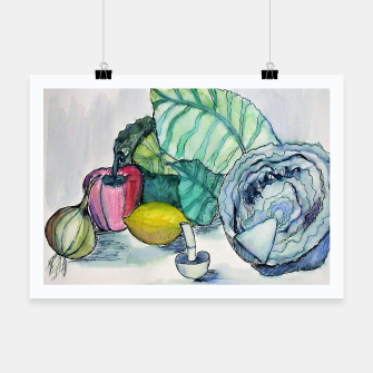 Thumbnail image of vegetables watercolor Plakat, Live Heroes