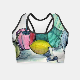 Thumbnail image of vegetables watercolor Crop Top, Live Heroes