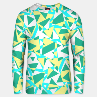 Miniatur Pieces of colorful broken glass in summer colors Unisex sweater, Live Heroes