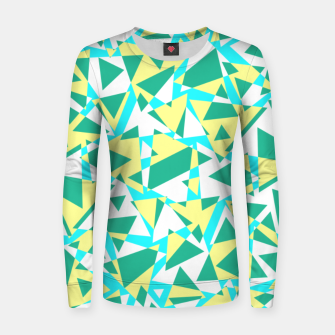 Miniatur Pieces of colorful broken glass in summer colors Women sweater, Live Heroes