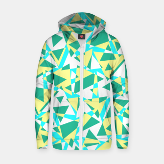 Thumbnail image of Pieces of colorful broken glass in summer colors Zip up hoodie, Live Heroes