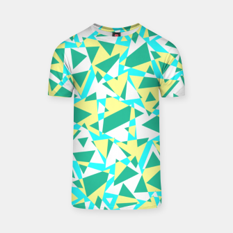 Miniatur Pieces of colorful broken glass in summer colors T-shirt, Live Heroes