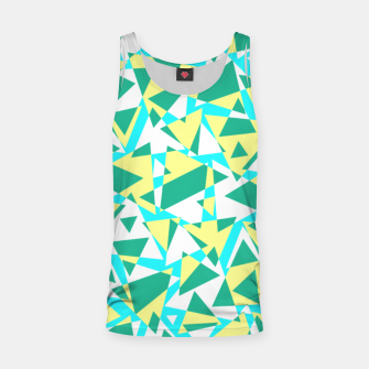 Miniatur Pieces of colorful broken glass in summer colors Tank Top, Live Heroes