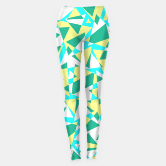 Miniatur Pieces of colorful broken glass in summer colors Leggings, Live Heroes