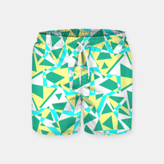 Miniatur Pieces of colorful broken glass in summer colors Swim Shorts, Live Heroes