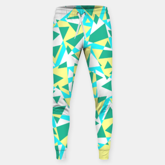 Thumbnail image of Pieces of colorful broken glass in summer colors Sweatpants, Live Heroes