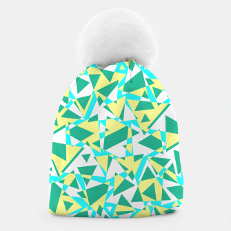 Miniatur Pieces of colorful broken glass in summer colors Beanie, Live Heroes