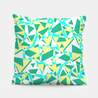 Thumbnail image of Pieces of colorful broken glass in summer colors Pillow, Live Heroes