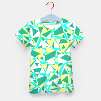 Miniatur Pieces of colorful broken glass in summer colors Kid's t-shirt, Live Heroes