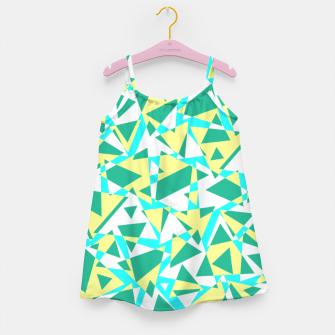 Miniatur Pieces of colorful broken glass in summer colors Girl's dress, Live Heroes