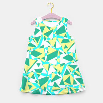 Miniatur Pieces of colorful broken glass in summer colors Girl's summer dress, Live Heroes