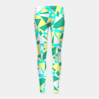 Miniatur Pieces of colorful broken glass in summer colors Girl's leggings, Live Heroes